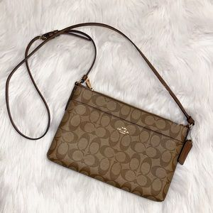 Coach brown crossbody purse